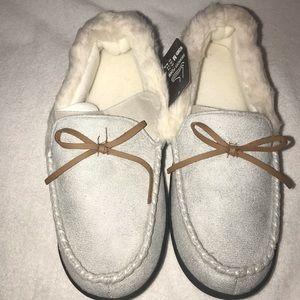 Memory Foam Moccasin Style Slippers